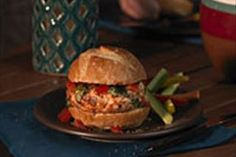 Tomatoes and basil add their bruschetta-esque magic to this ground chicken burger.