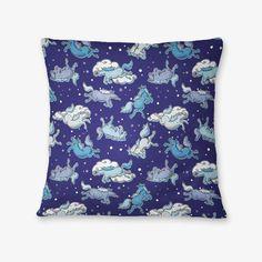#rainydays #badass #unicorn #pattern #pillow - available on The Mutiny, design by #MaraLiem http://wearethemutiny.com