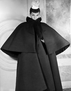 Coat by Balenciaga, photograph by Louise Dahl-Wolfe, 1953.