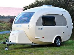 The Practical Caravan Barefoot review 1 - Priced from £21,950, the distinctive, two-berth Barefoot caravan has an MTPLM of 1050kg (© Andy Jenkinson/Practical Caravan)