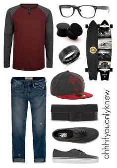 """""""Untitled #92"""" by ohhhifyouonlyknew ❤ liked on Polyvore featuring Ergo, Abercrombie & Fitch, Vans, Ray-Ban, Blue Nile, vans, my creations, awesome, casual and homo"""