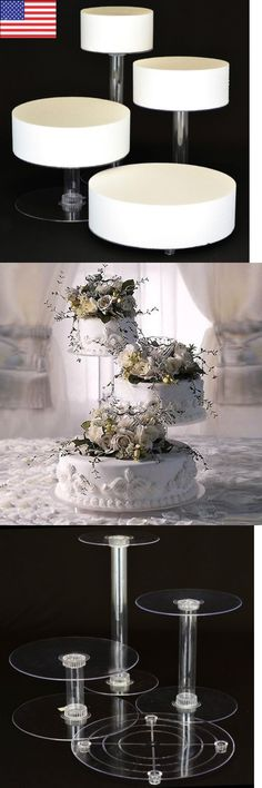 Wedding Cake Stands And Plates Tier Crystal Clear