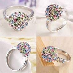 Multi-Color Stone Finish Ring