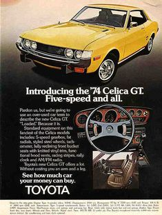 1974 TOYOTA CELICA - USA