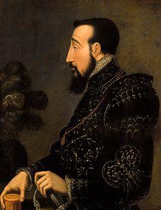 """""""Portrait of Henri II"""" attributed to Francesco Primaticcio. Courtesy the Condé Museum."""