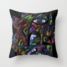 #drawing #painting #abstractpainting #pillow #extravagant #cubism