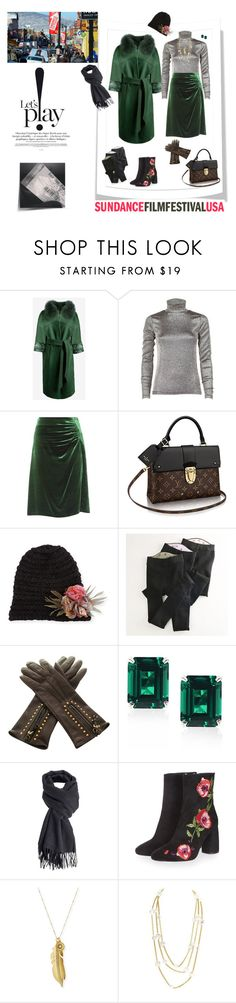 """Sundance Film Festival...  evening screening"" by deborah-518 ❤ liked on Polyvore featuring Dries Van Noten, Prada, Handle, Grevi, CARAT* London, Designers Remix, Topshop, Sequin, Chanel and Sundanceflimfestival"
