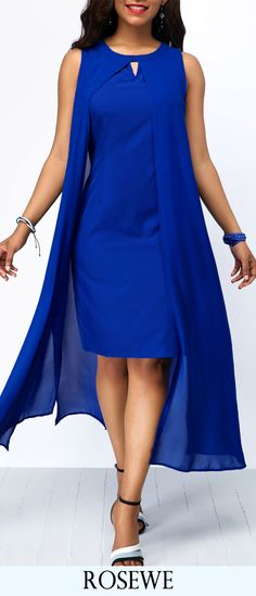 Long Maxi Dresses Royal Blue Overlay Keyhole Neckline Chiffon Dress Source by cingilayla Blue Chiffon Dresses, Royal Blue Dresses, Royal Blue Outfits, Party Dress Sale, Club Party Dresses, Tight Dresses, Sexy Dresses, Casual Dresses, Cheap Dresses