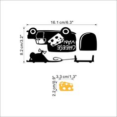Mouse Hole Mice Rat I LOVE YOU SO MUCH Car  Sticker Window Skate Vinyl Decal