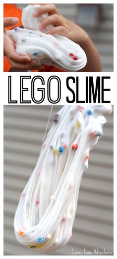 LEGO + Slime = Awesomeness! Need I say more? #lego #sensoryplay
