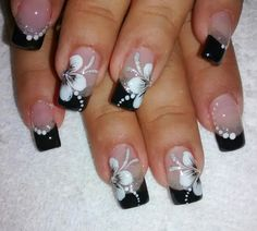 nails, You can collect images you discovered organize them, add your own ideas to your collections and share with other people. Manicure Nail Designs, Gel Nail Art Designs, Nail Art Designs Videos, French Nail Designs, Elegant Nail Art, Pretty Nail Art, Pink Nail Art, Best Acrylic Nails, Flower Nails