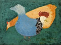milton avery | Two Chickens by Milton Avery (1885-1965, United States)