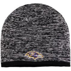 6087fc12da23f Men s Baltimore Ravens NFL Pro Line by Fanatics Branded Gray Static Skull  Knit Hat