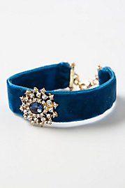 Cabochon Velvet Bracelet