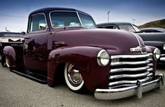 Vintage truck... nice plum color