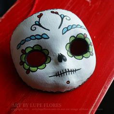 Dress her up!     Blythe Doll Sugar Skull Mask Day of the Dead by ArtByLupeFlores, $25.00