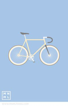 MNML Thing Fixie Bike designed by Spencer Harrison. Around The Fur, Bike Drawing, Bike Illustration, Cycling Art, Cycling Quotes, Cycling Jerseys, Bicycle Art, Bike Design, Illustrations And Posters