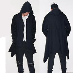 677ffba8ebf Hoodie Sweatshirt Coat Black Special Outerwear Trendy Mens Fashion
