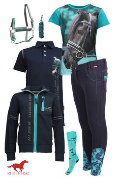 Red Horse Navy-Turquoise  #redhorse #summer17 #equestrian #fashion