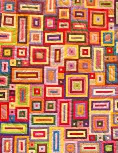 I like the circle quilting and the colours!