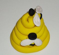 simple+polymer+clay+animals | For another project, make a bee hive and some bees to buzz around it.