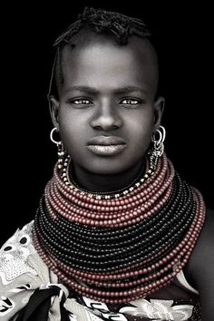 This gorgeous portrait of a Turkana girl taken by renowned South African photographer David Ballam is digitally printed on canvas and available in 2 sizes framed or unframed. Black Is Beautiful, Beautiful People, Nile Crocodile, African Artwork, African Tribes, Distinguish Between, We Are The World, Black Women Art, Female Art