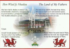 Welsh National Anthem England National Anthem, Welsh National Anthem, Welsh Sayings, Welsh Words, National Anthem Words, Welsh Translation, Welsh Language, Wales Rugby, My Father
