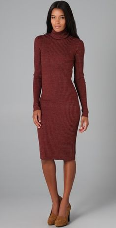 Diane von Furstenberg    Ginessa Turtleneck Sweater Dress