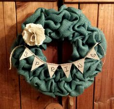 Hey, I found this really awesome Etsy listing at https://www.etsy.com/listing/179759154/spring-burlap-wreath