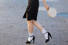 Sock are cute, fashionable style portion that may perfect for trendy boulevard trend wardrobe with mini skirt and pants in the event the weather conditions are bloodless. Socks And Sandals, Dress Sandals, Female Supremacy, Cute Socks, Ankle Socks, Walk On, Tights, Mini Skirts, Stockings