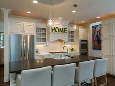 kitchen - Love the big chairs, so comfy!  VL