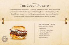 21. The Couch Potato Cheeseburger Recipe | 40 Mouth-Watering American Hamburger Recipes Everyone Loves