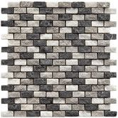 """Found it at Wayfair - Grizelda 1-1/4"""" x 1/2"""" Natural Stone Unpolished Mosaic in Charcoal"""
