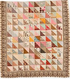 """Small flag quilt   Date inscribed 1862   38 1/4"""" by 32 1/4 """"    This quilt has been in my file of quilts related to the Civil War for s..."""