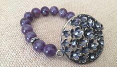 Amethyst Bracelet Copper Bracelet Amethyst by RedWillowCreations