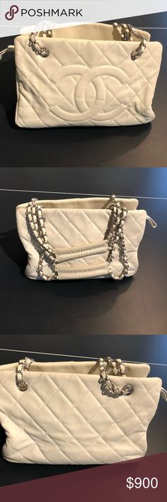 Authentic Chanel bag- no bag box no receipt Authentic Chanel quilt bag - no bag box no receipt.  Some wear and tear. Please pay attention to photos with wear and tear especially on the handles. I was told you can get some stuff from Chanel or either google clean my Chanel bag.  I don't have time to do either.  NO TRADES CHANEL Bags Shoulder Bags