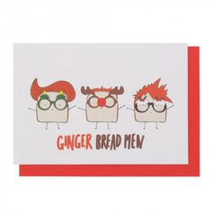 Ginger bread men Christmas card - All Christmas Cards - Christmas