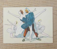 Raymond ballet vintage postcards Russian ballet Alexander Glazunov Raymond and Abderrahmane Romantic story gift for balerin Grand Theatre by SomeVintage4you on Etsy