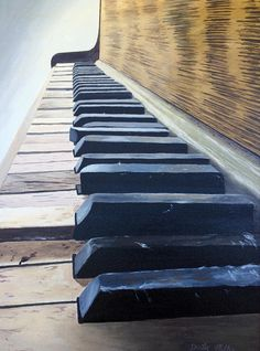Art Painting - Piano Perspective by Dustin Miller