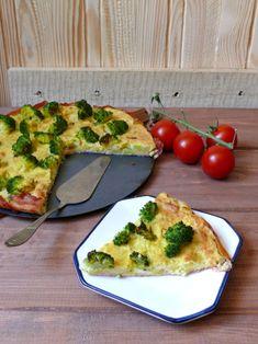 Zapiekanka a'la tarta z ziemniaków, brokuła i boczku