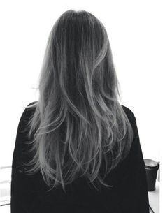 black to grey ombre hair - Google Search