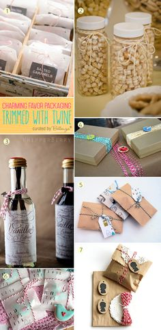 How to use twine for making favor packaging | featured on Bellenza Wedding Bistro bomboniere