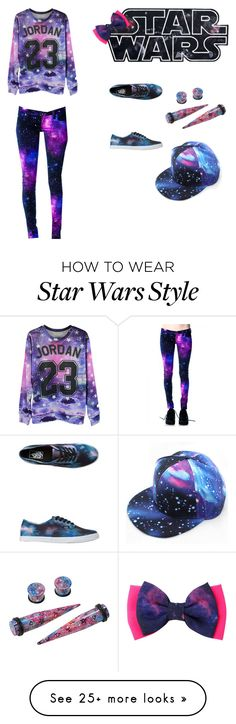 """""""Galaxy way!"""" by irinadenim on Polyvore featuring Vans I'm not a big fan of star wars but..."""