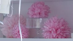 Pink tissue paper pompoms from http://www.decopompoms.com