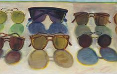 "thunderstruck9: "" Wayne Thiebaud (American, b. 1920), Sunglasses, 1991. Watercolor and pastel on paper, 35.9 x 55.9 cm. """