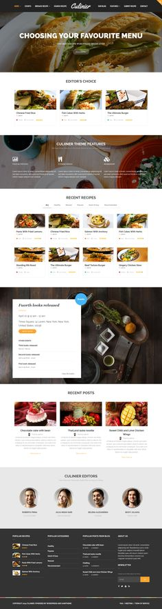 Culinier – Recipe & Food Wordpress #webdesign Theme  Live Preview and Download: http://themeforest.net/item/culinier-food-recipe-wordpress-theme/11088564?ref=ksioks