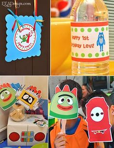 Yo Gabba Gabba party ideas- printable cut-out masks on NickJr.com