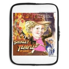 Shirley Temple Of Doom #Laptop Sleeve by #LTCartoons #offbeat #cartoons #humor #templeofdoom #shirleytemple #technology