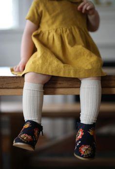 Handmade Linen Dress in Marigold | SweetHannahBDesigns on Etsy