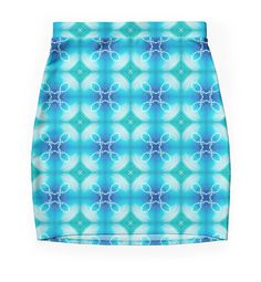 """""""Texture """"east pattern"""" the blue"""" Pencil Skirts by floraaplus 